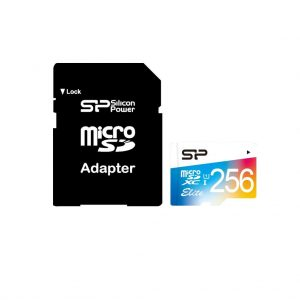Silicon Power Elite Memory Card Micro-SD 256GB Adapter XC-C10 UHS-1