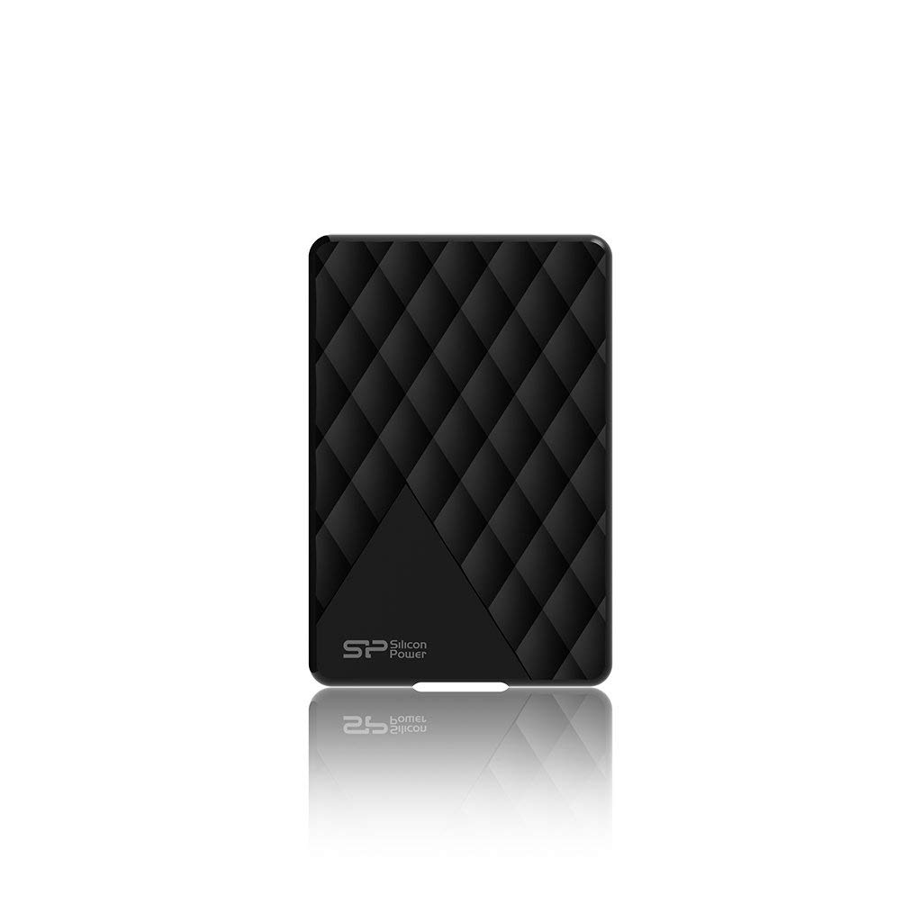 Silicon Power Portable Hard Drive Diamond D06_stylish Slim and light anti scratches 2TB USB 3.1 Black