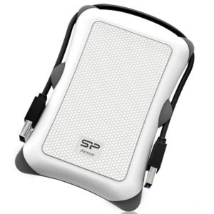 Silicon Power Portable Hard Drive Armor A30_Shockproof 2TB USB 3.1 White