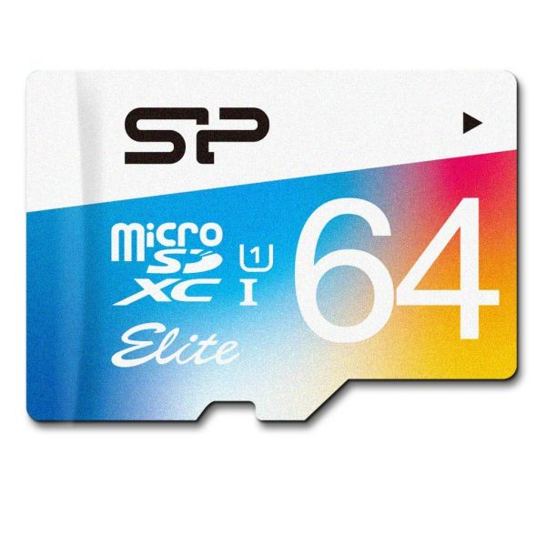 Silicon Power Elite Memory Card Micro-SD 64GB XC-C10 UHS-1