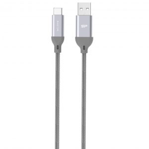 Silicon Power Cable Type_C Nylon Gray