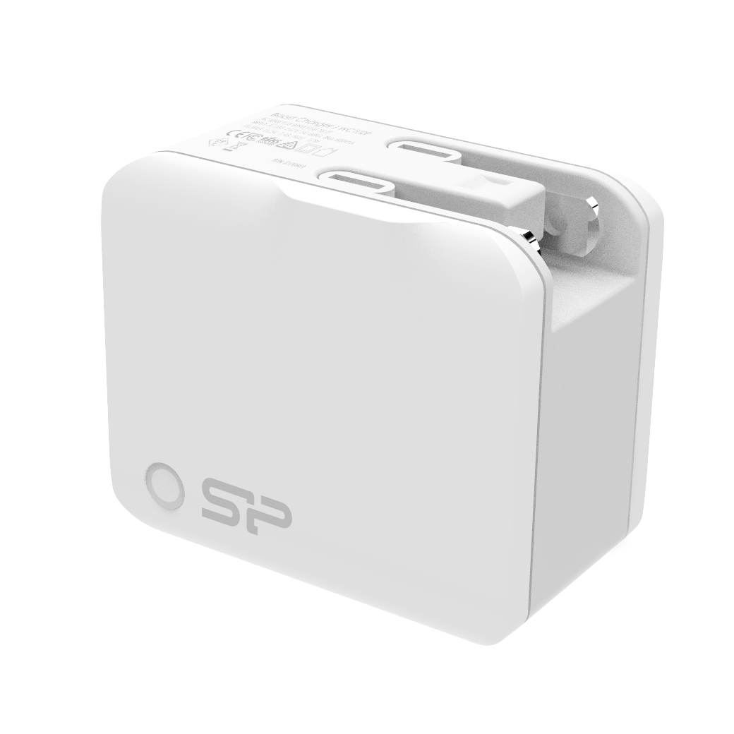 Silicon Power Travel Plug 2.4A fast charging Dual USB port White